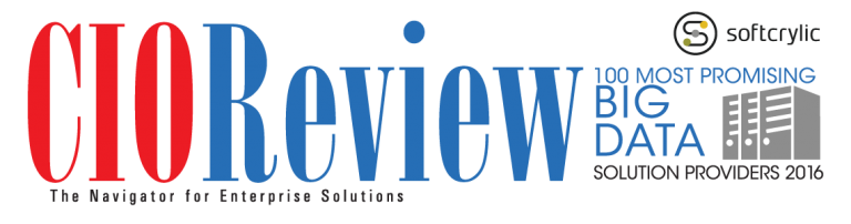 Softcrylic Named as One of the 100 Most Promising Big Data Solution Providers in 2016 by CIOReview